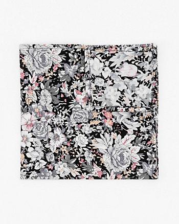 Mouchoir de poche fleuri en coton