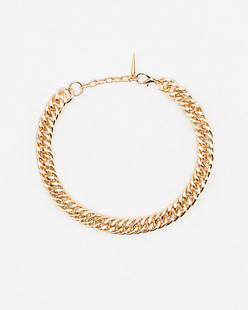 Metal Cuban Chain Link Necklace