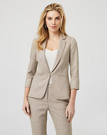 Crosshatch Viscose Blend Tailored Blazer
