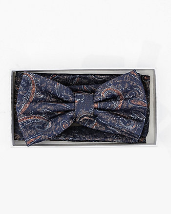 Paisley Print Bow Tie & Pocket Square Set