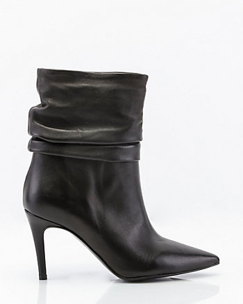 Italian-Made Leather Slouch Boot