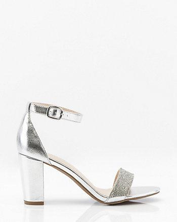 Jewel Embellished Metallic Sandal
