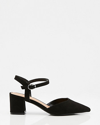 Pointy Toe Ankle Strap Pump
