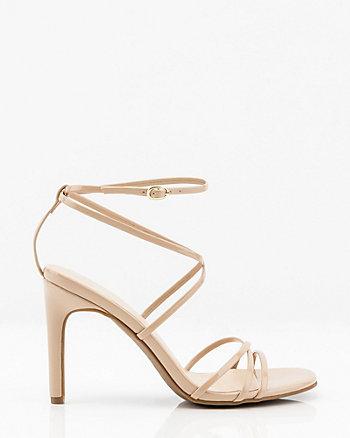b7dc697c0 Patent Strappy Sandal