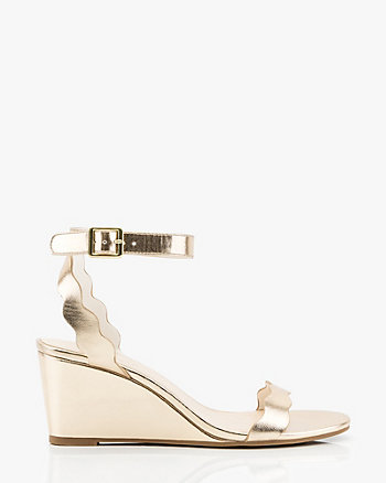 Scalloped Wedge Sandal