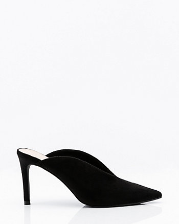 Deep-V Pointy Toe Mule