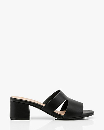 Open Toe Cutout Slide Sandal
