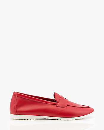 Italian-Made Leather Almond Toe Loafer