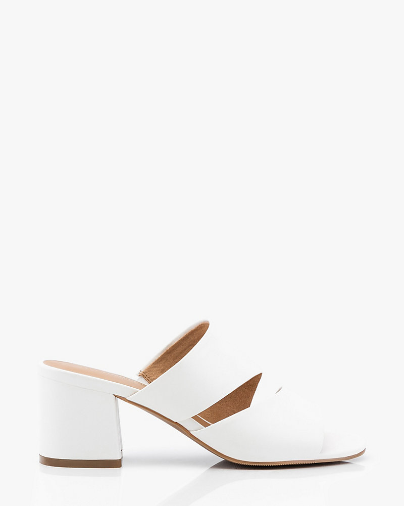 d04e54feb Flared Heel Two-Banded Slide