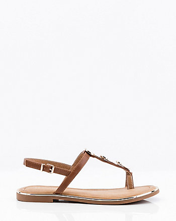Metal Embellished Thong Sandal