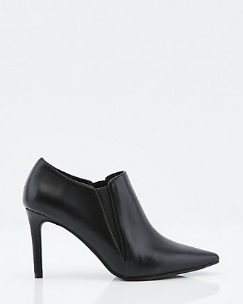 Faux Leather Pointy Toe Boot
