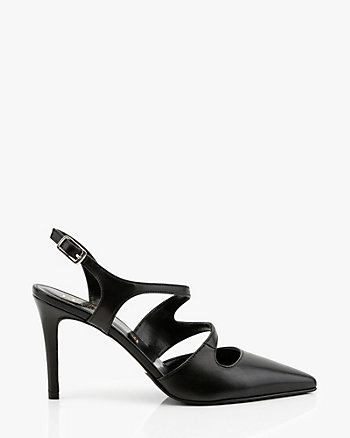 Italian-Made Leather Strappy Pump