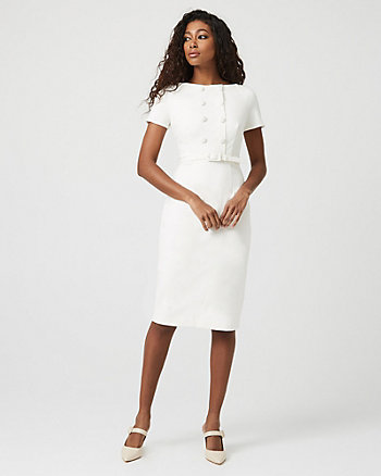 Ponte Knit Boat Neck Blazer Dress