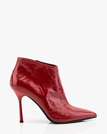 Italian-Made Patent Leather Ankle Boot