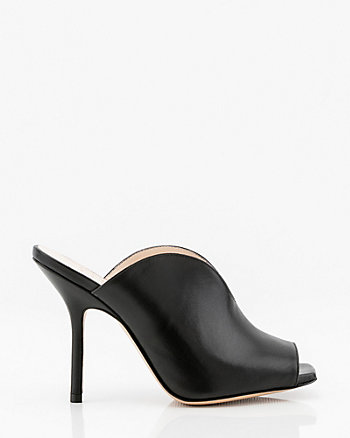 Italian-Made Leather Slide Sandal