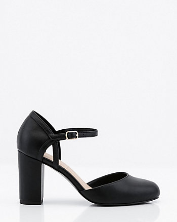 Block Heel Round Toe Mary Jane Pump