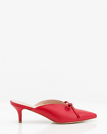 Leather Pointy Toe Mule