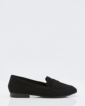 Faux Suede Square Toe Loafer