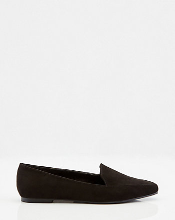 Faux Suede Pointy Toe Loafer