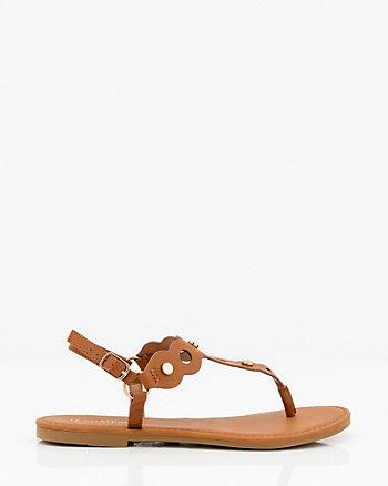 Stud Embellished Thong Sandal