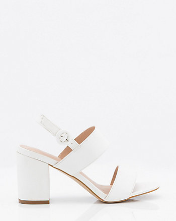 Block Heel Slingback Sandal