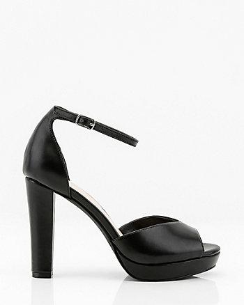 Peep Toe Platform Sandal
