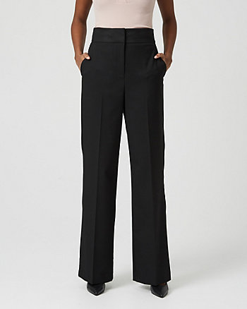 Viscose Blend Wide Leg Trouser