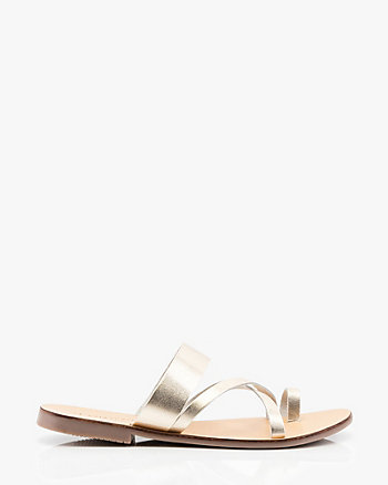 Leather Asymmetrical Slide