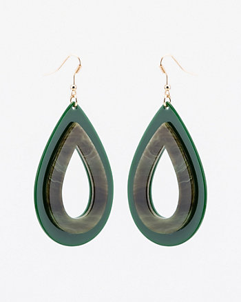Metallic Tear Drop Earrings