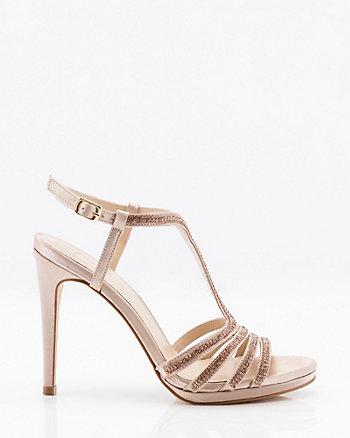 Jewel Embellished T-Strap Platform Sandal
