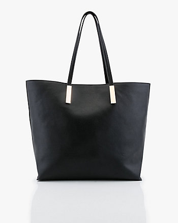3-in-1 Pebbled Leather-Like Tote