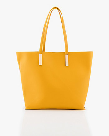 Pebbled Leather-Like Tote