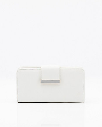 Saffiano Faux Leather Wallet