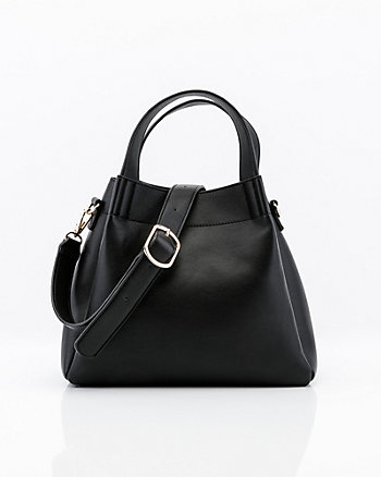 Pebbled Faux Leather Hobo Bag