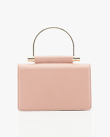 Mini Leather-Like Clutch