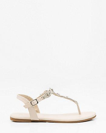 Jewel Embellished T-Strap Sandal