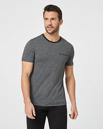 Tonal Knit Crew Neck T-Shirt