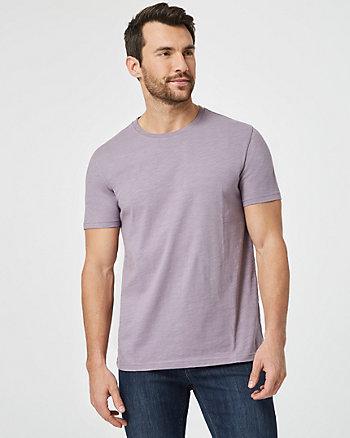 T-shirt à encolure ras du cou en coton