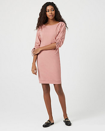 Knit Dolman Sleeve Tunic Dress