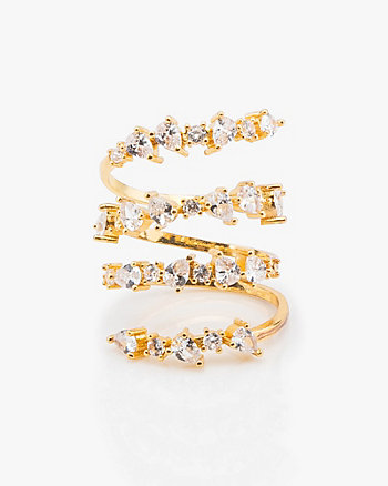 Cubic Zirconia Encrusted Stacked Ring