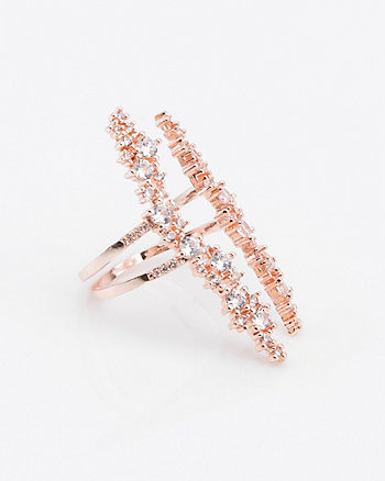 Cubic Zirconia & Metal Ring