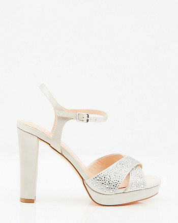 Jewel Embellished Platform Sandal