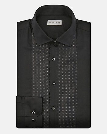 Cotton Tailored Fit Tuxedo Shirt
