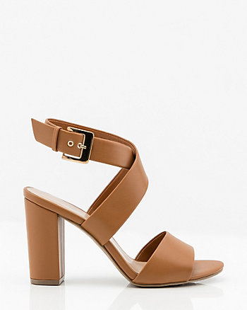 5f113386360 Criss-Cross Block Heel Sandal