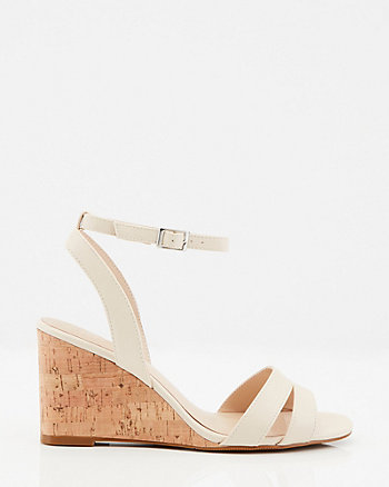 Ankle Strap Cork Wedge Sandal