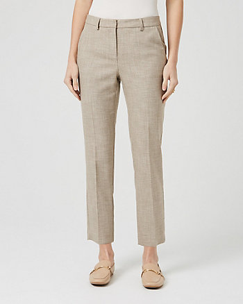 Crosshatch Viscose Blend Slim Trouser
