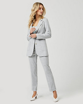 Windowpane Check Relaxed Fit Blazer
