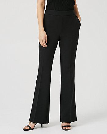 Pantalon en tissu extensible deux sens