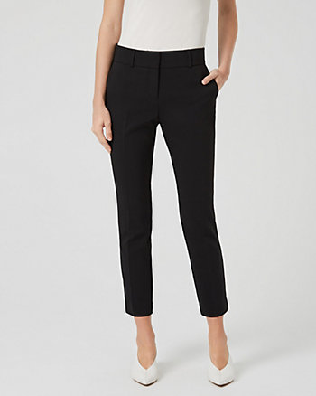 Cotton Blend Slim Leg Trouser
