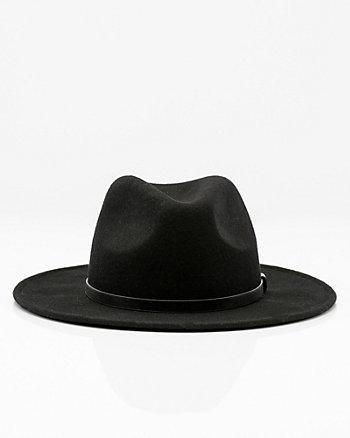 Chapeau à large bord en laine